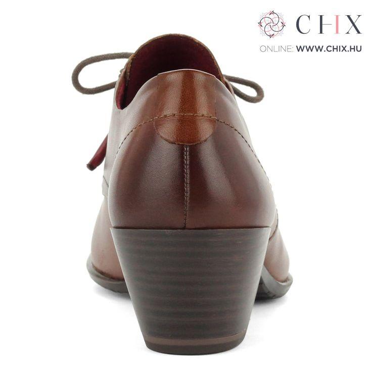 Fűzős barna Tamaris cipő 5 cm magas Antishokk sarokkal készült bőr Tamaris cipő. Memóriahabos talpbéléssel készült, barna színben. Márka: Tamaris Szín: COGNAC Modellszám: 1-23305-27 305 http://chix.hu/noi-cipok/13955-fuzos-barna-tamaris-cipo-antishokk-1-23305-27-305/