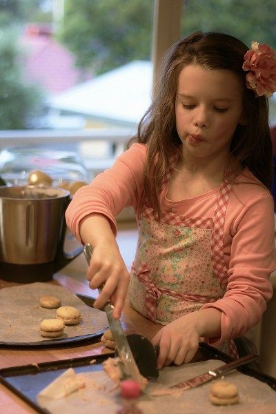 Making my melting moments.  Kids in the kitchen.  Recipe converted for Thermomix