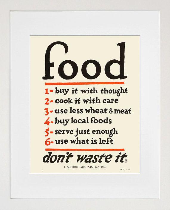 Food  Kitchen Art  Vintage US Food Print  Healthy by Typologies