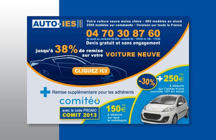 Création encart publicitaire web pour Auto IES