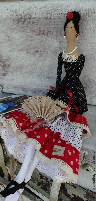 Куклы Тильды ручной работы. Ярмарка Мастеров - ручная работа кукла тильда ручной работы ФЛАМЕНКО. Handmade.