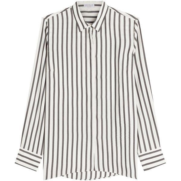 a34342e765030 A ca ced feef striped blouses stripe shirts jpg 600x600 Black and white  striped silk shirt