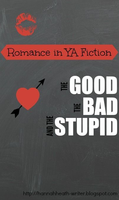 A list of the good, the bad, and the stupid templates for romance in YA fiction. Hopefully it will help you figure out what path to take - or what path to avoid - when writing your YA stories