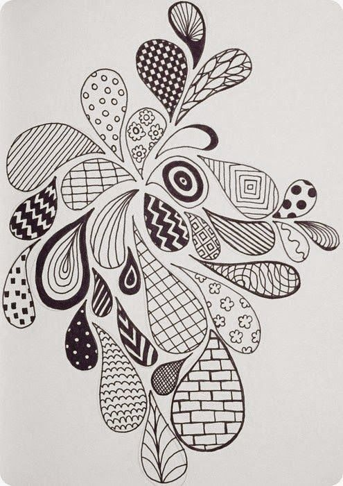 Efie goes Zentangle: maanduitdaging voor de maand oktober