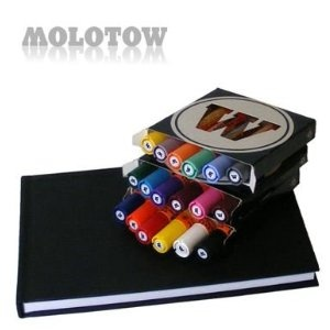 Molotow One4All 227s Paint Marker Set - 18 Markers AND Stylefile A5 Blackbook from Graff-City