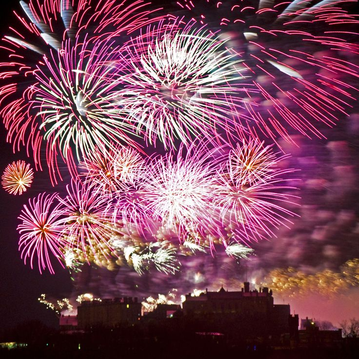 No one in the world celebrates New Year's Eve quite like the Scottish; they even have their own name for it: Hogmanay. This image shows the amazing Hogmanay fireworks display over Edinburgh Castle.