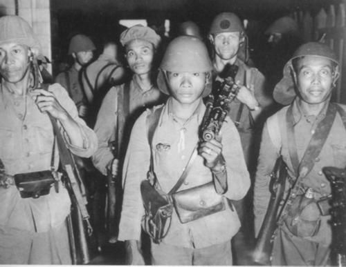 survivors of the battle of Palembang (Sumatra) 15 Feb 1942 this troops would cease to exist after Battle of Java (march 1942)