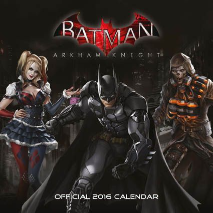Official Batman Arkham Knight 2016 Calendar available from Publishers at https://www.danilo.com/Shop/Calendars/Gaming-Calendars