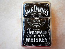 JACK DANIELS OLD NO 7 STAR BRAND LIGHTER WHISKY & EXTRA ZIPPO FLINTS