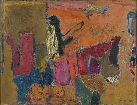 Elisabeth (Liz) Cummings ( b1934) Australia - The Yellow Pot, 1992 Oil on canvas, 51 x 67.5 cm