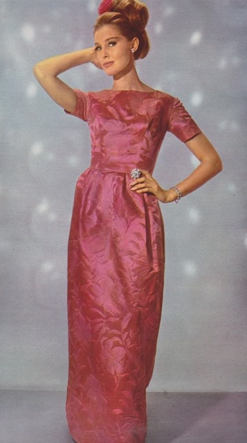 Sixties style evening dresses