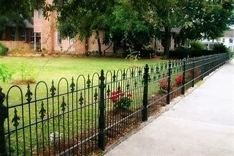 Image result for Home Depot Wrought Iron Fence