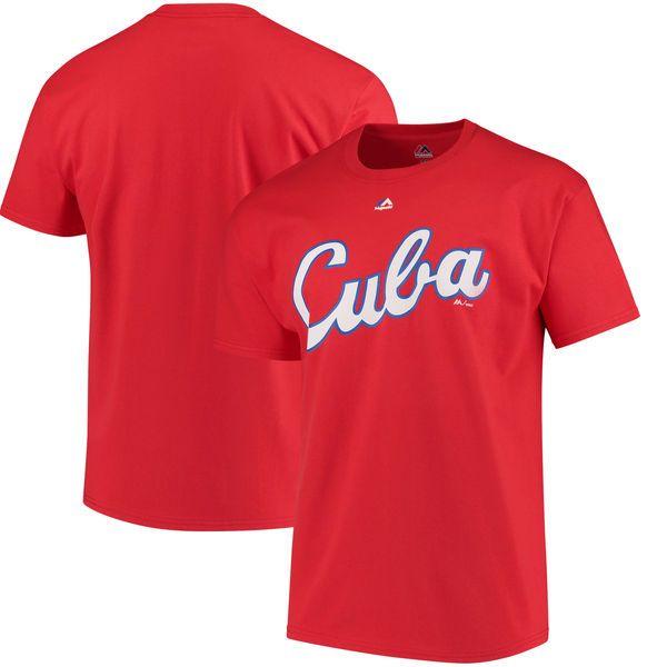 Cuba Baseball Majestic 2017 World Baseball Classic Wordmark T-Shirt - Red - $24.99