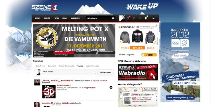 Youth Olympic - Sitebranding auf Szene1.at