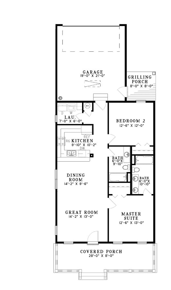 57 best images about camelback shotgun on pinterest porch roof house plans and side porch - L shaped house plans for narrow lots ...