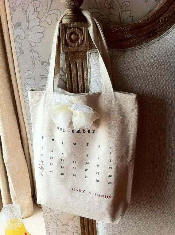 Custom order 7 Wedding Tote Bag, personalized tote, bridal tote for Stephanie via Etsy