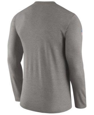 Nike Men's Jacksonville Jaguars Coaches Long Sleeve T-Shirt - Black XXL