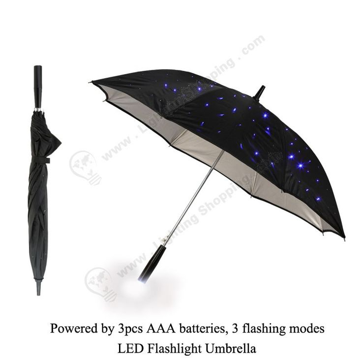 Unique design #led #twilight #umbrella,  #Waterproof, 3 flashing modes, Powered by 3pcs AAA batteries, LED #Flashlight #Umbrella,  Click > http://www.lightingshopping.com/led-flashlight-umbrella.html