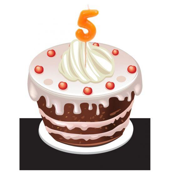 Cijferkaarsje in de vorm van het getal 5. Kaarsjes voor bijvoorbeeld in de verjaardagstaart. Afmeting kaarsjes: 3.5 x 8 cm. U kunt bij ons ook terecht voor 5 jaar versiering en feestartikelen in vele varianten.
