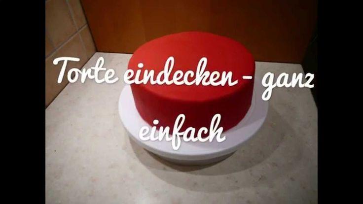 Belag mit Fondant dekorieren – Kuchen backen + dekorieren   – Basics Motivtorten… – Schnelle Torten Rezepte