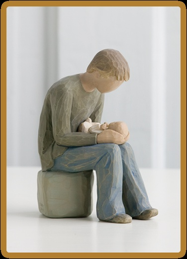 """Derek"" ~ New Dad ~ Willow Tree Figurine"