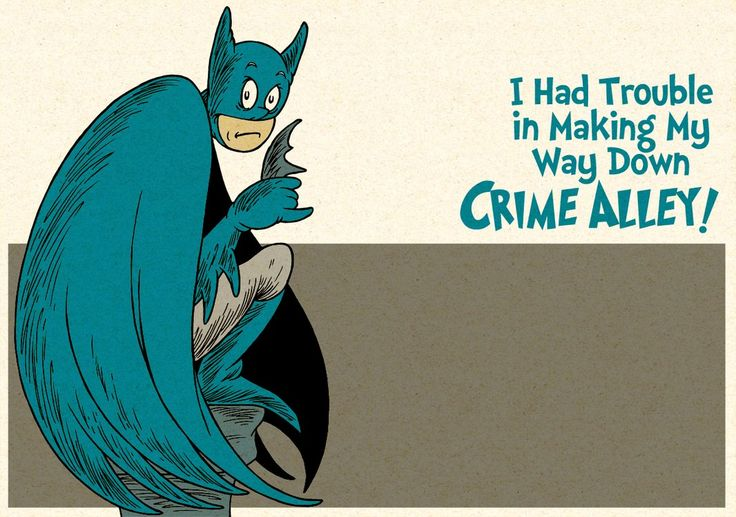 Batman Characters in the Style of Dr. Seuss