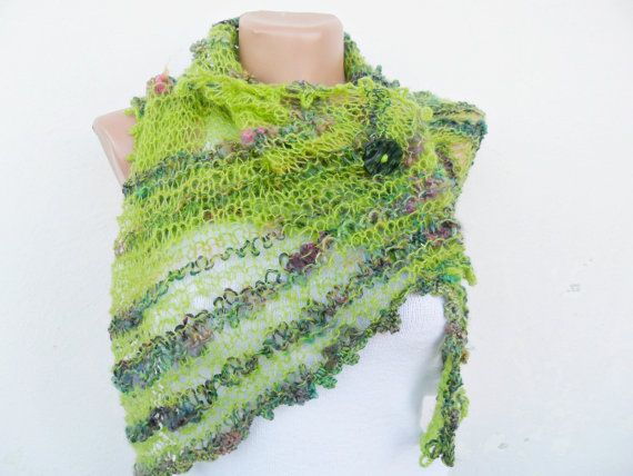 Pistachio Green Shawl  Free Shipping by noyumberry on Etsy, $25.00