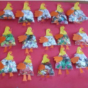 plastic bag hen craft