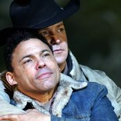 Cowboys In Love: 'Brokeback Mountain' Saddles Up For Opera - Tom Randle (left) and Daniel Okulitch in the opera Brokeback Mountain.