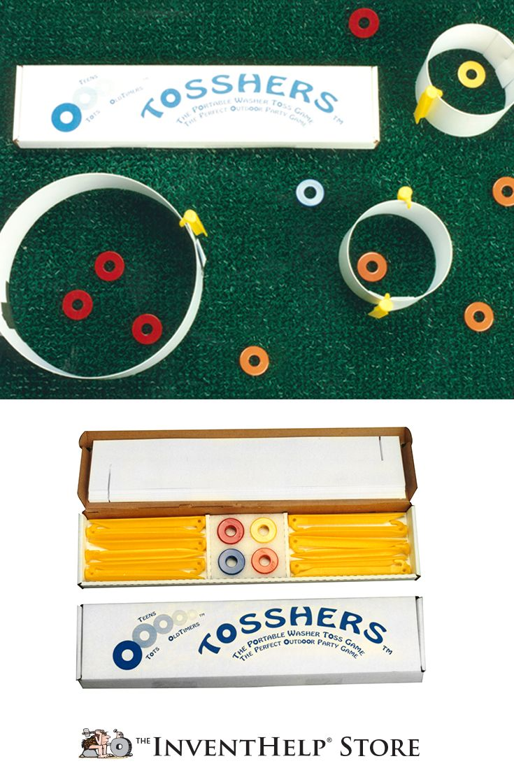 Set up Tosshers in the backyard for the whole family to play! Purchase at inventhelpstore.com.