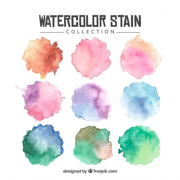 Download Watercolor Stain Collection For Free Vector Free