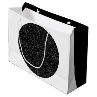 Black Leather Like Mandala Gift Bag Large Gift Bag. Wonderful two sided black and white gift bag.  $11.95
