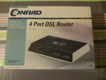 4 Port DSL Router ohne integriertem Modem. OVP für 12,00 € in Mitte, Eisenhüttenstadt