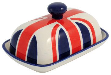 Union Jack Butter Dish - eclectic - food containers and storage - Harlem UK