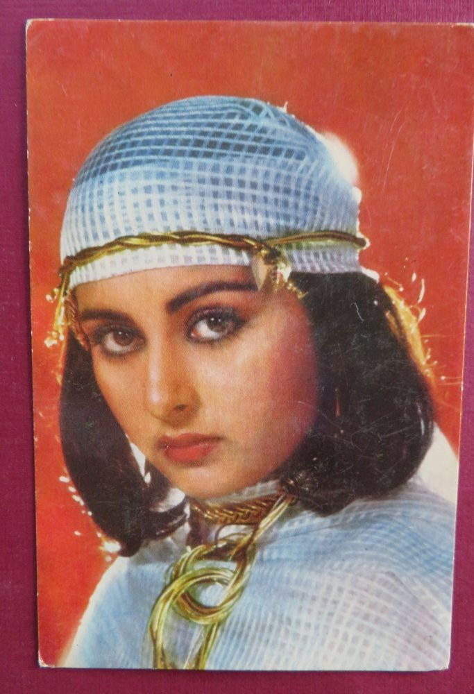 Poonam Dhillon bollywood actress Picture postcard Пунам Collection 15 x10 cm Old