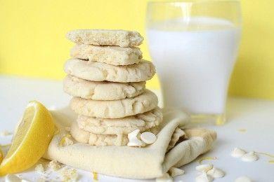 Лимонное печенье с белым шоколадом