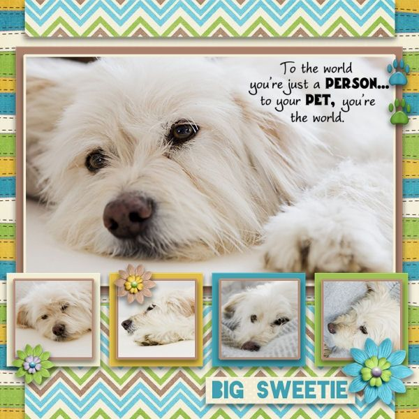 I LOVE this layout, the journalling is wonderful and am going use it for a Maggie layout-this dog even looks like her!