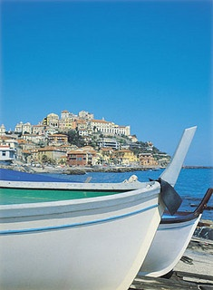 """Imperia, Italy   panoramic view of the """"Parasio"""""""