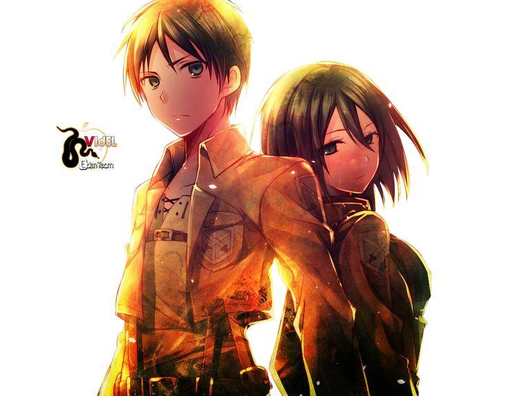 Render Animes et Manga - Renders Shingeki no Kyojin Attack on titan Mikasa ackerman Eren Jaeger