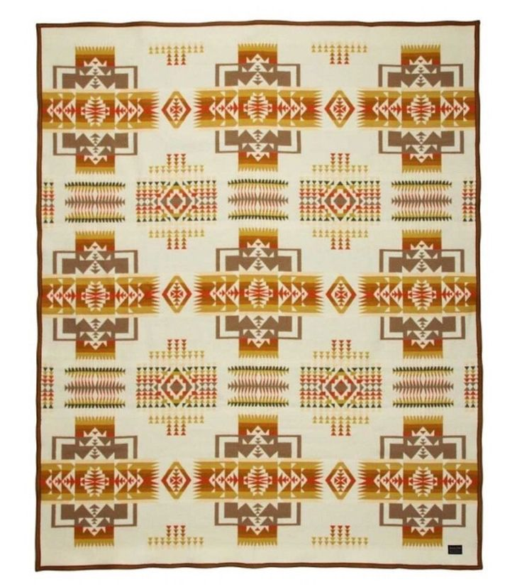 New With Tags - Pendleton Chief Joseph Beaver State Twin Blanket - Cream - 64x80 #Pendleton