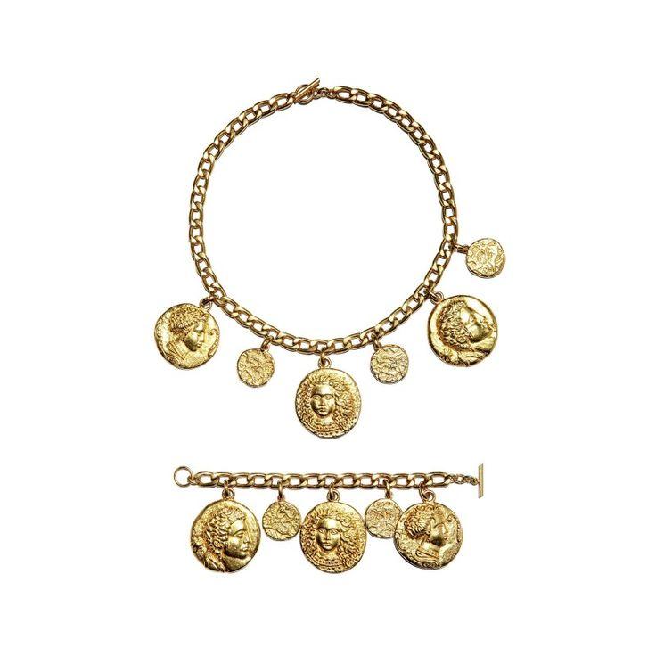 Vintage Kenzo necklace and bracelet set, 1980