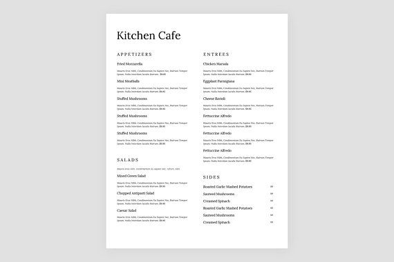Simple Menu Template from i.pinimg.com