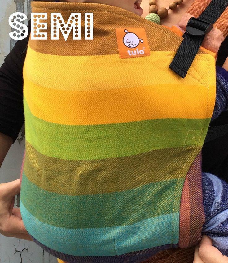 (Toddler size) Semi- Wrap Conversion Tula - Girasol Enfys Fusion D'Oro