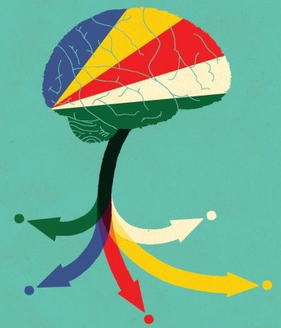 Brain Drain by Adrian Johnson graphic illustration art