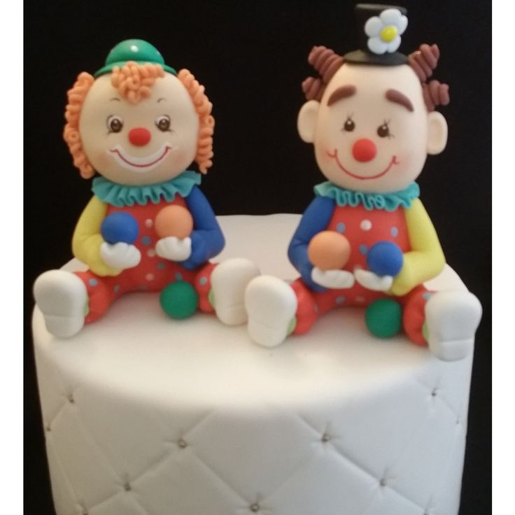 Circus Birthday Cake Decorations, Carnival Clown Party Decorations, Circus Clowns Party, Circus Baby Shower, Circus Cake Decorations, Circus Animals Topper