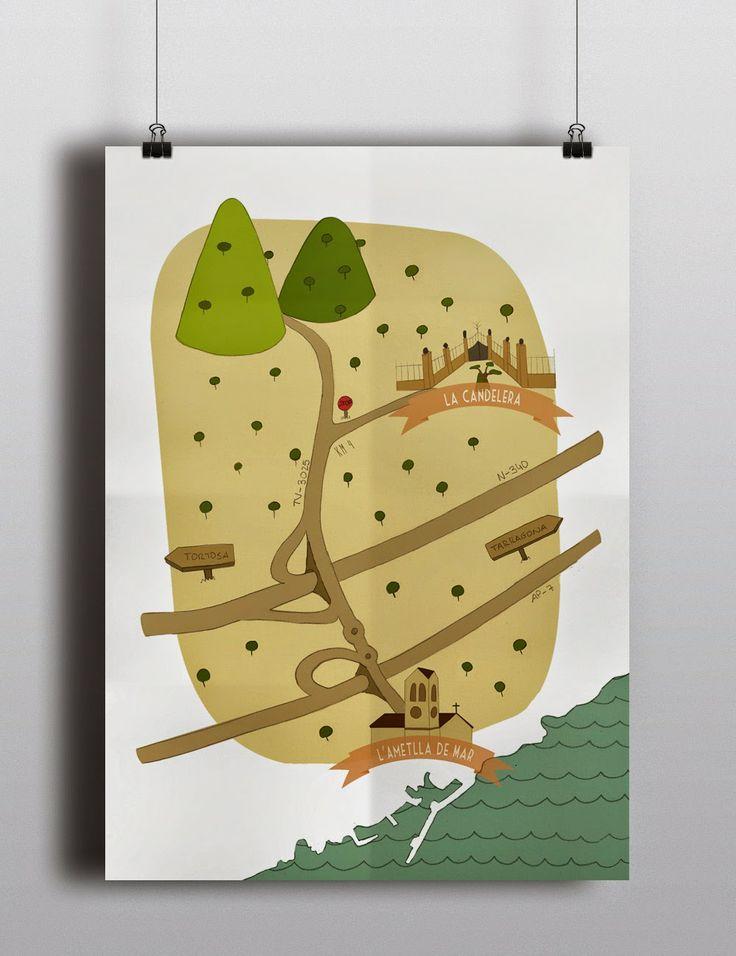 Mapa ilustrado - Illustrated map