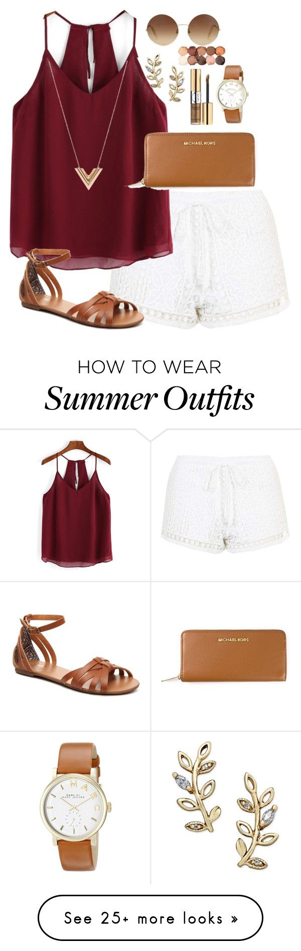 Summer Outfit by galaxygirls66 on Polyvore featuring Topshop, Louis Vuitton, MICHAEL Michael Kors, Mix No. 6, Victoria Beckham, Marc by Marc Jacobs, Giani Bernini, Yves Saint Laurent and NYX