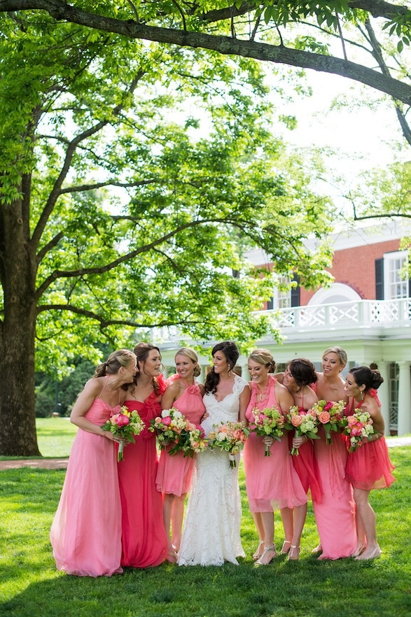 bridesmaids dresses.. except in orange! @Amelia Daniels