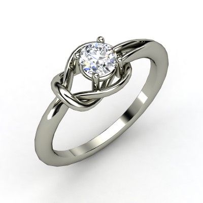 Love this!  Such a unique ring! Round Diamond 14K White Gold Ring - Hercules Knot Ring | Gemvara.  The Hercules knot is the strongest of bonds. In ancient Rome, brides wore a belt tied in a Hercules knot to their weddings to signify the strength of the marriage vows to bind a couple together.