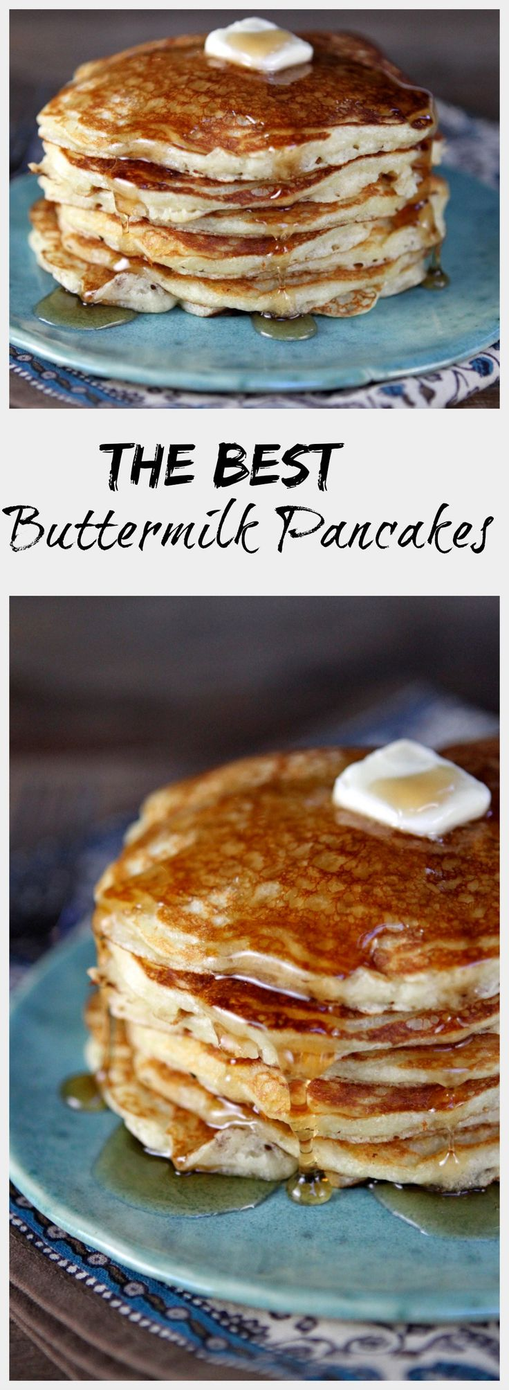 Lofty Buttermilk Pancakes - a little bit crispy on the outside and tender and tangy on the inside.